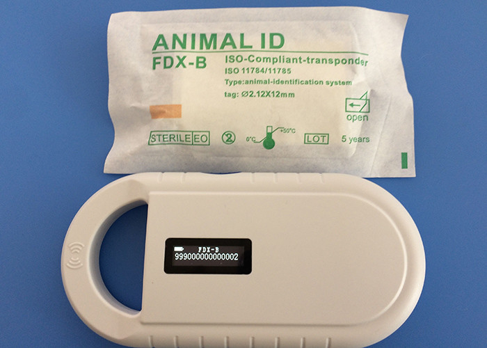 High Frequency Animal Cat Tracker Microchip , Found Pet Microchip With Glass Tags