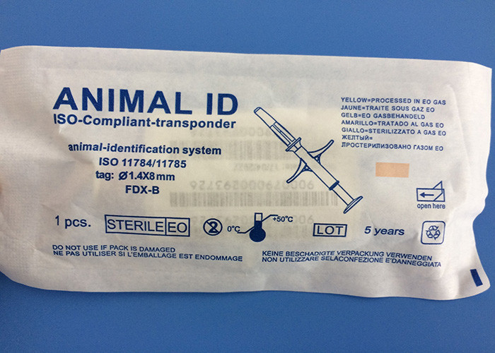 Professional Mini Animal ID Microchip With Disposable Syringe , ISO Approved